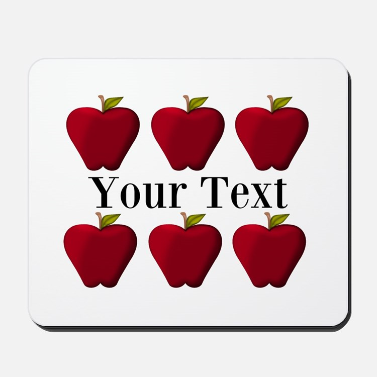 personalizable red apples mousepad apples office