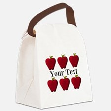 Personalizable Red Apples Canvas Lunch Bag