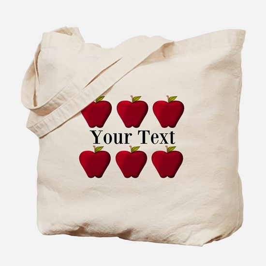 Personalizable Red Apples Tote Bag