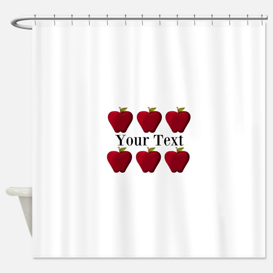 Personalizable Red Apples Shower Curtain