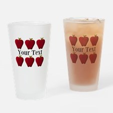 Personalizable Red Apples Drinking Glass