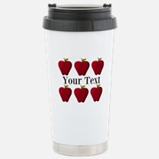 Personalizable Red Apples Travel Mug