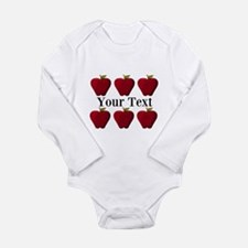 Personalizable Red Apples Body Suit