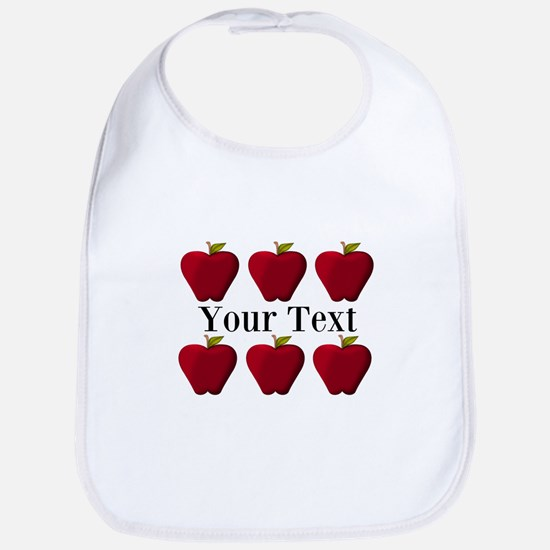Personalizable Red Apples Baby Bib