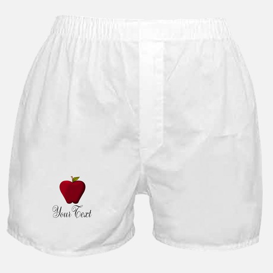 Personalizable Red Apple Boxer Shorts