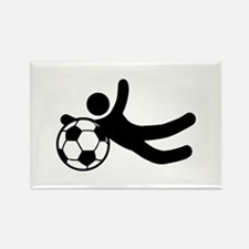 Funny Soccer Stunts Rectangle Magnet