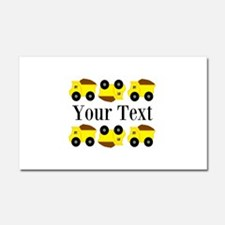 Personalizable Yellow Trucks Car Magnet 20 x 12