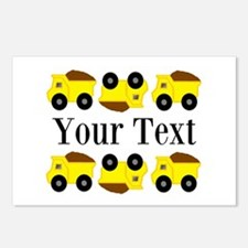 Personalizable Yellow Trucks Postcards (Package of