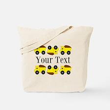 Personalizable Yellow Trucks Tote Bag
