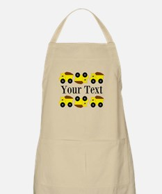 Personalizable Yellow Trucks Apron