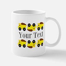 Personalizable Yellow Trucks Mugs