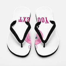 Personalizable Pink Pig Flip Flops