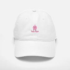 Personalizable Pink Pig Baseball Baseball Baseball Cap