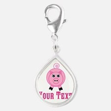 Personalizable Pink Pig Charms