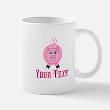 Personalizable Pink Pig Mugs