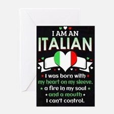 I am Italian Greeting Cards