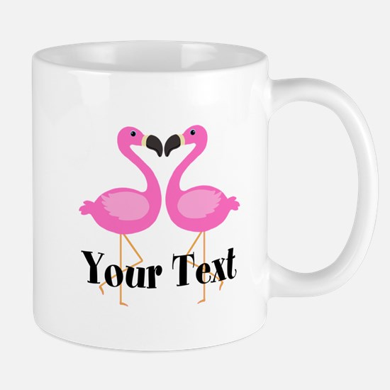 Personalizable Pink Flamingos Mugs