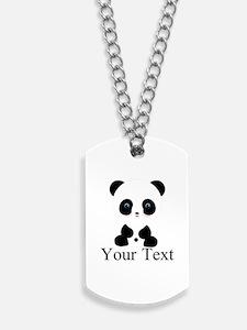Personalizable Panda Bear Dog Tags