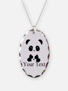 Personalizable Panda Bear Necklace