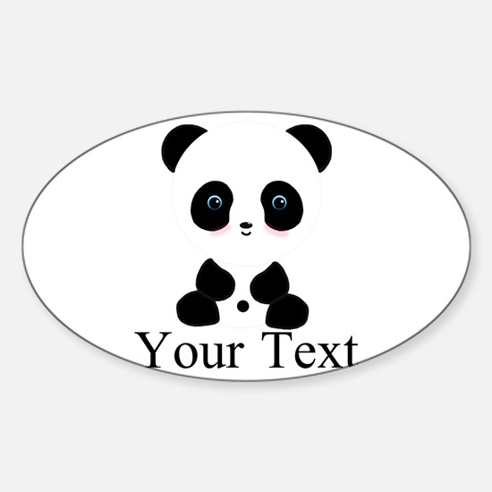 Personalizable Panda Bear Decal