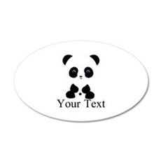 Personalizable Panda Bear Wall Decal