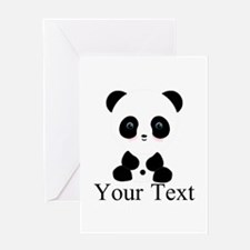 Personalizable Panda Bear Greeting Cards