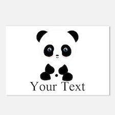 Personalizable Panda Bear Postcards (Package of 8)