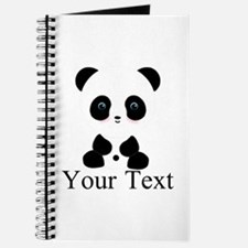 Personalizable Panda Bear Journal