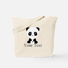 Personalizable Panda Bear Tote Bag