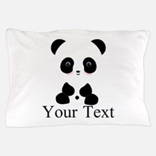 Personalizable Panda Bear Pillow Case