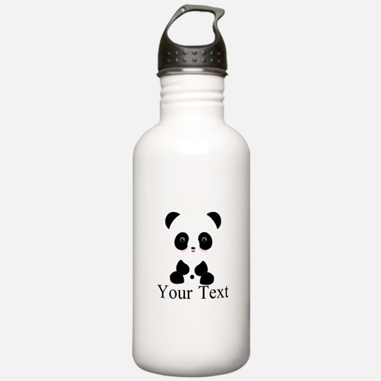 Personalizable Panda Bear Water Bottle