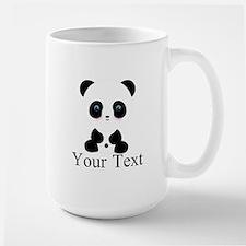 Personalizable Panda Bear Mugs