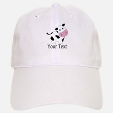 Personalizable Black and White Cow Baseball Baseball Baseball Cap