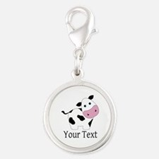 Personalizable Black and White Cow Charms