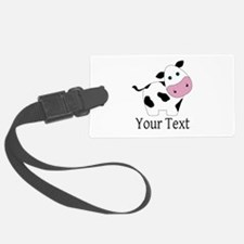 Personalizable Black and White Cow Luggage Tag