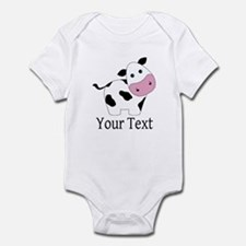 Personalizable Black and White Cow Body Suit