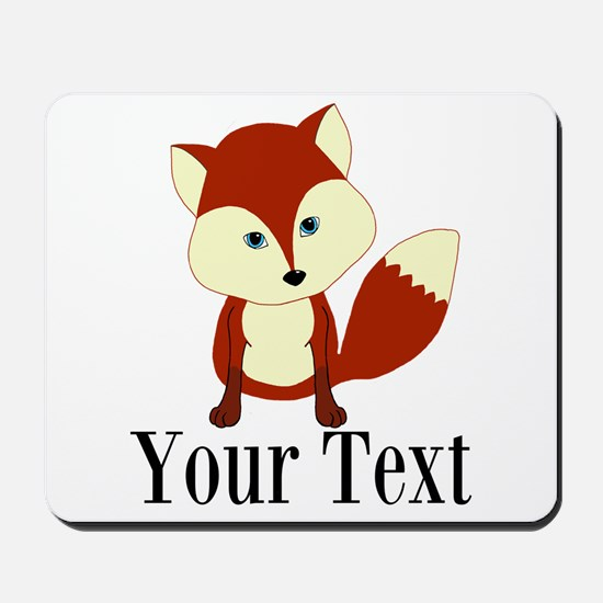 Personalizable Red Fox Mousepad