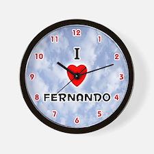 I Love Fernando (Red/Blk) Valentine Wall Clock