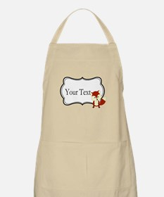 Personalizable Red Fox on Black Apron