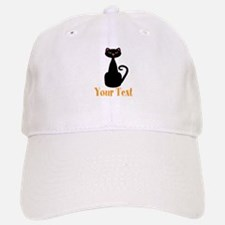 Personalizable Orange Black Cat Baseball Baseball Baseball Cap