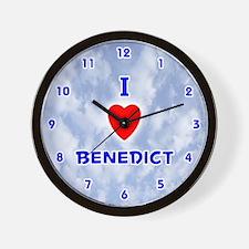 I Love Benedict (Blue) Valentine Wall Clock