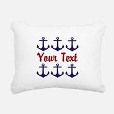 Personalizable Red and Blue Anchors Rectangular Ca