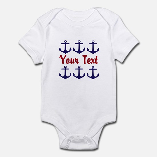 Personalizable Red and Blue Anchors Body Suit