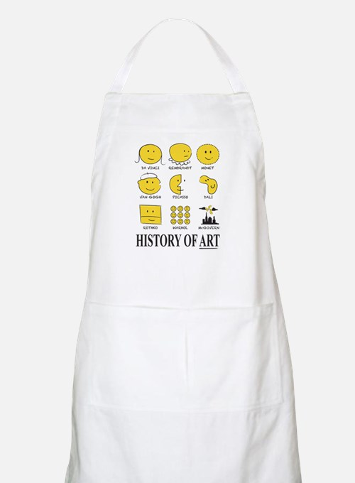History Of Art By Smiley - Apron