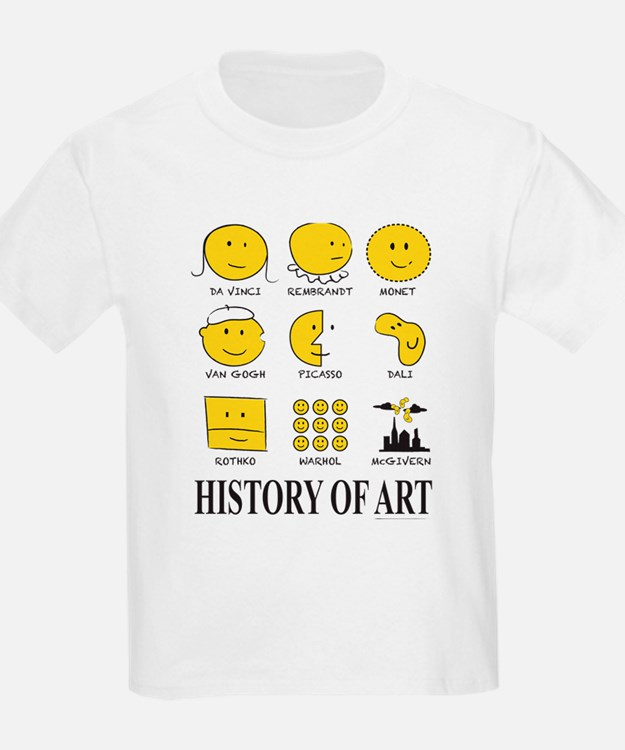 History Of Art By Smiley - T-Shirt