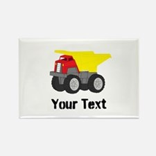 Personalizable Red Yellow Dump Truck Magnets