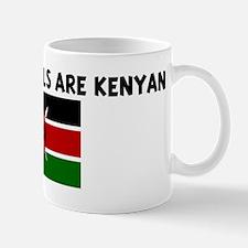 THE CUTEST GIRLS ARE KENYAN Mug