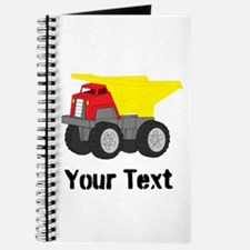 Personalizable Red Yellow Dump Truck Journal