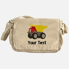 Personalizable Red Yellow Dump Truck Messenger Bag