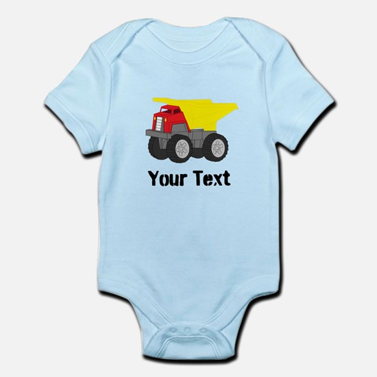 Personalizable Red Yellow Dump Truck Body Suit